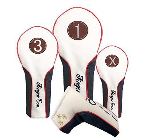 FINGER TEN Couvre Bois Golf Driver Cuir SynthÉTique Deluxe,...