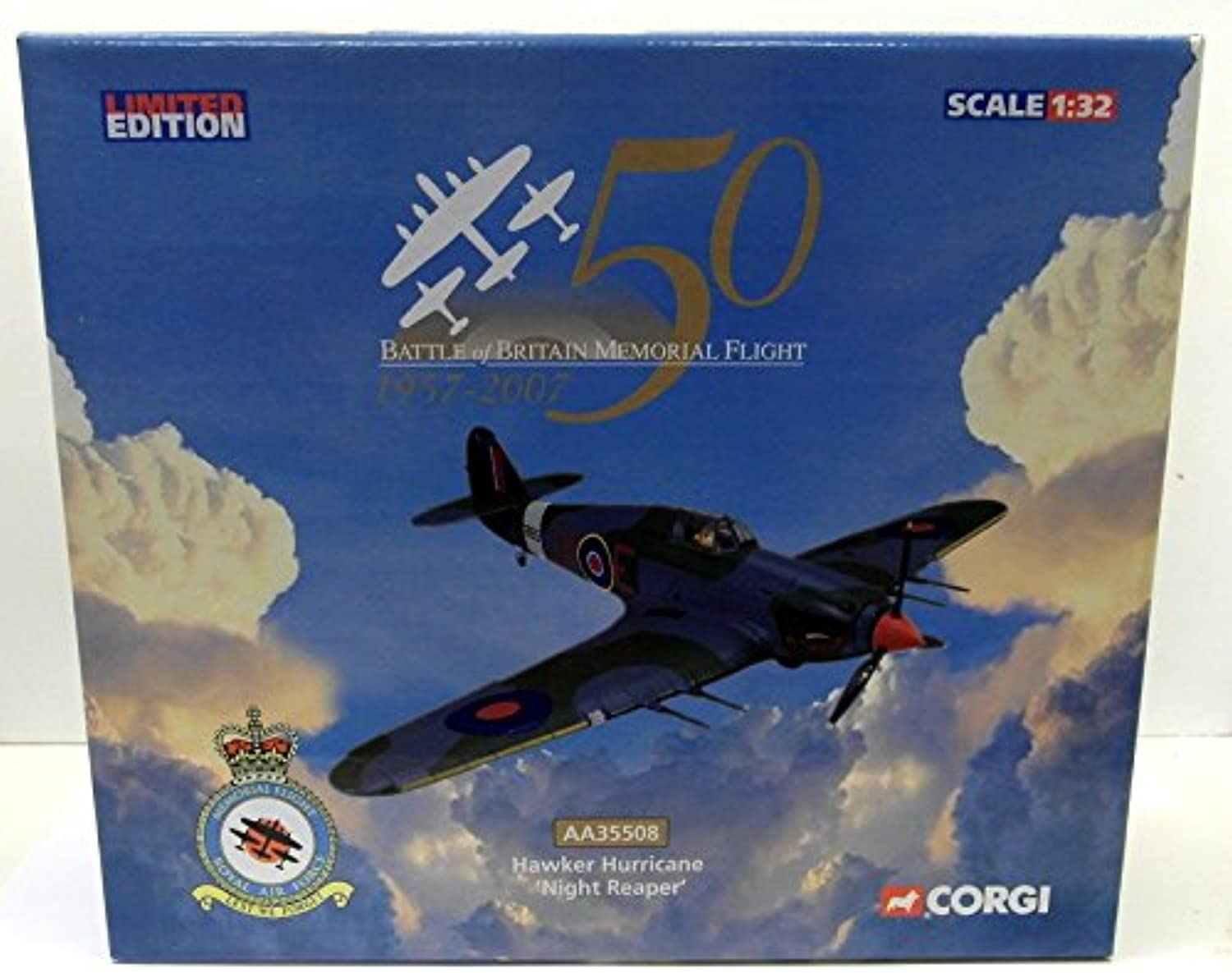 Corgi 1 32 AA35508 Hawker Hurricane 'Night Reaper' Battle Of Britain Model Plane B00I9893BC Creative  | München Online Shop