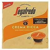 Segafredo 12 Capsule Compatibili A Modo Mio, Linea Le Classiche Crema Ricca, Aroma Intenso e Piacevole Cremosità, 1 Astuccio da 12 Capsule