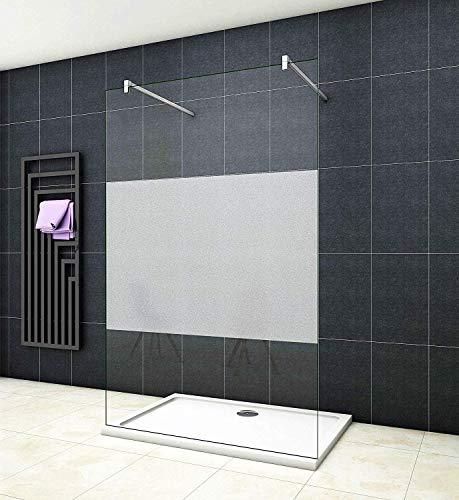 Aica Sanitär 67.7cm Freistehende Duschwand Duschtrennwand 10mm Sicherheitsglas 200cm Höhe Walk in Dusche