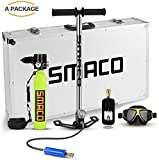 SMACO Scuba Diving Tank Equipment, Mini Scuba Dive Cylinder with 12-20 Minutes Capability, Pressure&...