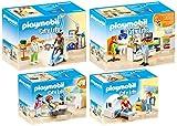 Playmobil City Life Set en 4 Parties 70195 70196 70197 70198 chez Le spécialiste: Physiothérapeute + radiologue + Ophtalmologiste + Dentiste