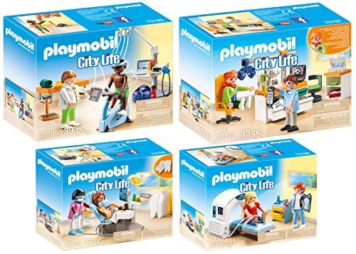 Playmobil City Life Set en 4 Parties 70195 70196 70197 70198 chez Le...