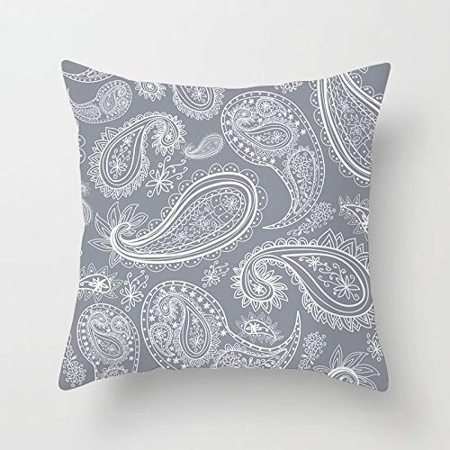 GYYbling Pillow case Nordic Gray Throw Pillowcase Retro floral Geometric Cushion Cover for Home Sofa Decoration Pillowcase Cushion Cover A7 45x45cm 2pc