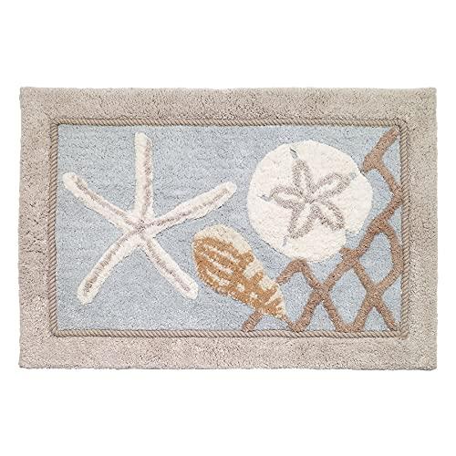 Avanti Linens Seaglass Collection, Bath Rug, Multi