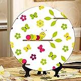 Piatti in stile cartone animato Caterpillar in ceramica Decorazioni per piatti da tavolo moderni Piatti oscillanti per la casa con espositore Decorazione per dessert per uso domestico