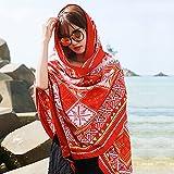 feiren Nueva bufanda de viaje femenina con protección solar para mujer, toalla de playa, bufandas largas de verano (color: StyleA)