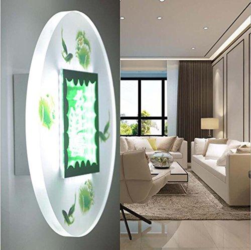 NIHE Chambre moderne applique murale minimaliste couloir salon élégant puces LED acrylique