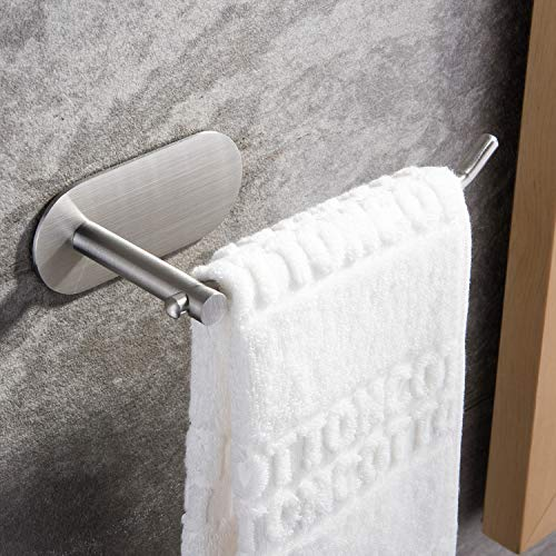 SUNTECH Hand Towel Holder/ Towel Ring - Self Adhesive Towel Bar for Kitchen and Bathroom No Drilling