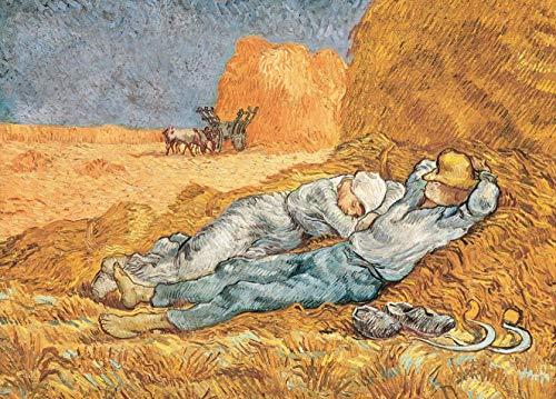 Deerbird Puzzle 1000 Pezzi Pittura di Van Gogh: La siesta, Puzzle per Adulti Bambini, Multicolore Puzzle Classici 1000 Pezzi 19,69 * 27,56 pollici