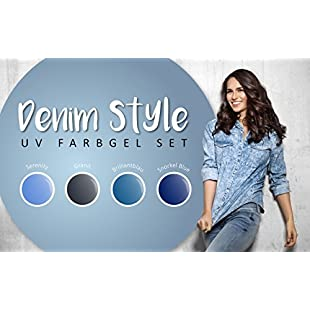 99NAILS UV Nail Gel Set Denim Style 5ml Pack of 4x 5ml:Marocannonce