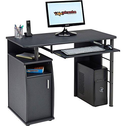 Piranha Elver Schreibtisch, Holz, Graphit schwarz