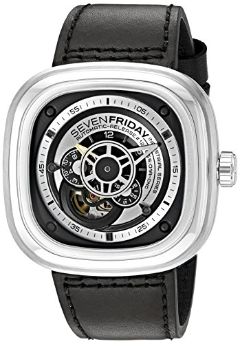 SEVENFRIDAY Herren-Armbanduhr P1-B1 Essence Analog Display Japanische Automatik Schwarz