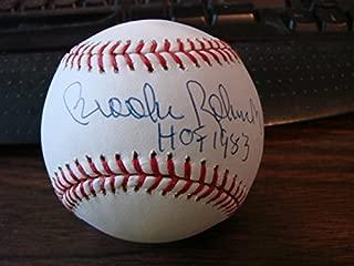 Brooks Robinson Autograph Baseball HOF 1983 Baltimore Orioles