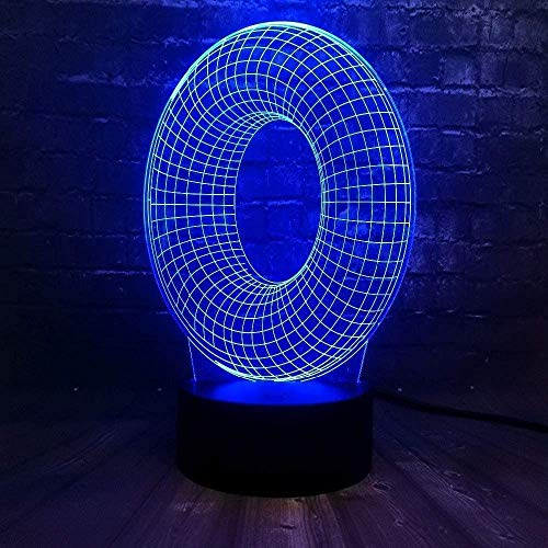 3D LED nachtlampje lamp alfabet letter O meerkleurige tabel Bul Touch kind cadeau Home Decorative3D nachtlampje tafel garage