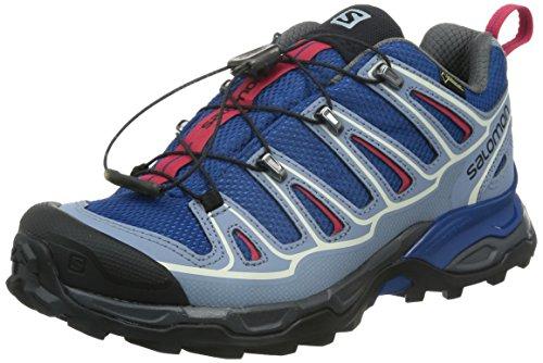 SALOMON Damen X Ultra 2 GTX Trekking- & Wanderhalbschuhe, Blau (Gentiane/Stone Blue/Lotus Pink), 36 2/3 EU