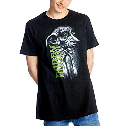 Harry Potter - T-Shirt uomo elfo domestico Dobby di Elbenwald cotone nero - L