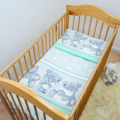 Juego de edredón y almohada de 2 piezas, 120 x 90 cm, para cama de cuna