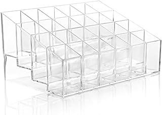 Hosaire® Organisateur de Maquillage pour Lèvres Acrylique Transparent Organisateur Multi-Cosmétiques 24 Compartiments Acce...