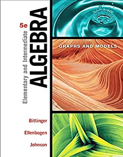 Elementary and Intermediate Algebra: Graphs and Models (5th Edition) (013417240X) | Amazon price tracker / tracking, Amazon price history charts, Amazon price watches, Amazon price drop alerts