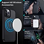 Meifigno Magnetic Case Designed for iPhone 12 Pro Max Case, [Military Grade Protection & Compatible with MagSafe], Translucent Matte Back with Soft Silicone Edge, for iPhone 12 Pro Max 6.7 Inch, Black