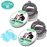 GVOO 2PCS Collares Antipulgas y Garrapatas,Collar Antiparasitos Perros Gatos,...