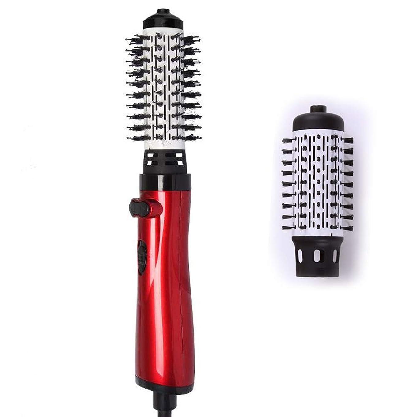 熱帯の実現可能ペインギリック3 in 1 ドライヤー 矯正機 そして、カーラー ワンステップ熱風ブラシ やけど防止アニオン 回転 髪の毛 ドライ カール モデリング 道具