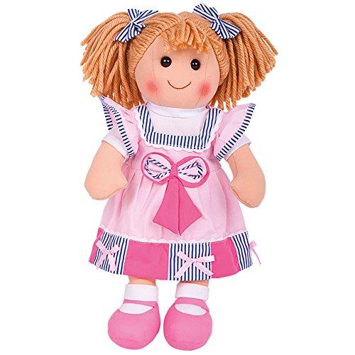 Bigjigs Toys Poupée 38cm Georgie | Jouet Enfant | Jeu Traditionnel Enfant | Nounours | Jouet Enfant | Cadeau Enfant | Jouet pour Fille