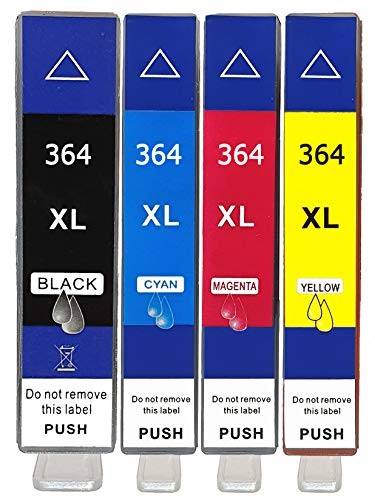 4er Multipack Druckerpatronen kompatibel für HP 364XL 364 Patronen für HP Deskject 3520 3070A Photosmart 5510 5515 5520 5525 7510 7520 6510 6520 b110a b109a Officejet 4620 4622