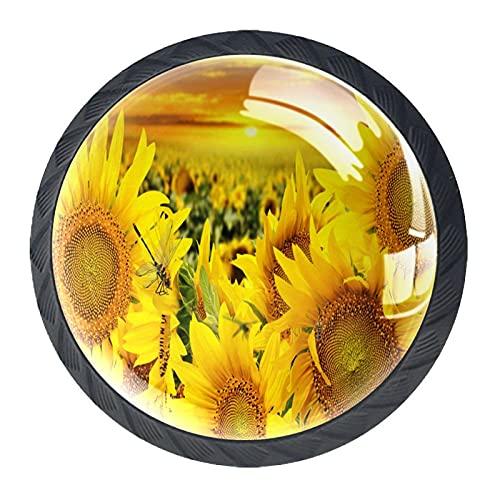 Lådhandtag dra dekorativa skåpknoppar byrå låda handtag 4 st, se blommor grön skrivbord bilder natur baksida
