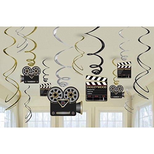 NET TOYS 12 guirnaldas Decorativas de Hollywood Accesorios Techo Disfraces Montaje