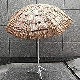 YYBD Ombrellone da Giardino in Paglia Hawaii da 5,9 Piedi, ombrellone in Paglia Tropicale Hawaiana con Funzione di inclinazione, per Piscina con Balcone
