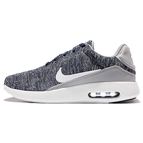NIKE Air Max Modern Flyknit Mens Running Trainers 876066 Sneakers Shoes (UK 6.5 US 7.5 EU 40.5, College Navy White Grey 400)