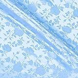 Aus Brokatstoff Jacquard hell blau 152,4 cm Stoffe von