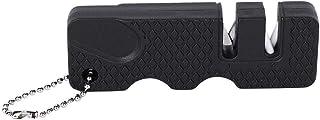 Vobor Mini Afilador de Cuchillos-Mini Afilador de Cuchillos Afilador de Cuchillos para Acampar al Aire Libre portátil para Accesorios de Cocina