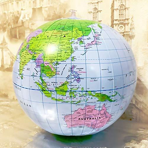 CROSYO 1 stück 16inch Aufblasbare Globus Welt Erde Ozean Karte Ball Geographie Lernen Pädagogische Strand Ball Kinder Geographie Pädagogische Lieferungen