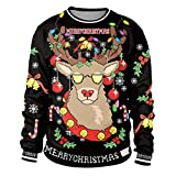 Colorful House Women Men Ugly Christmas Jumper Sweater,...