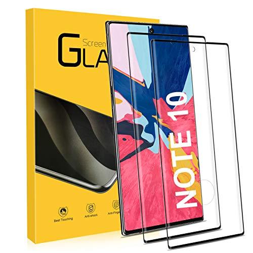 UTEAMY Verre Trempé pour Samsung Galaxy Note 10 [2 Pack] 9H Dureté Protection écran Samsung Note 10 Film Protecteur Vitre écran - Anti Rayures-sans Bulles - 3D Couverture Complète