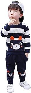 Bluza z długim rękawem i spodnie do biegania, 2 sztuki, na jesień i zimę, zestaw ubrań dla chłopców i dziewczynek