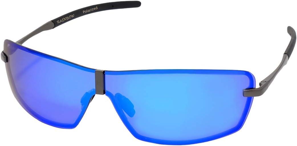 Rainbow Safety Herren Sonnenbrille Al Mg Auto Brille Nachtsichtbrille Polarisierte Gläser Rwnp3 Blau Spiegel Cat 3 Sport Freizeit