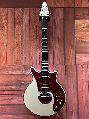 Florwesr Gremio Brian BM01 Brian May Guitarra Negro Pickguard 3 Pastillas del Puente del Trémolo Hace 24 Trastes Personalizada (Size : 39 Inches)