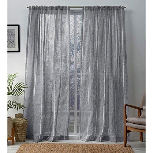 Home Exclusive Exclusiva casa Cortinas Santos con Textura Lino Sheer R