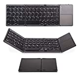 Saco Foldable Bluetooth Keyboard with Touchpad Pocket Size Portable Mini Wireless for Android