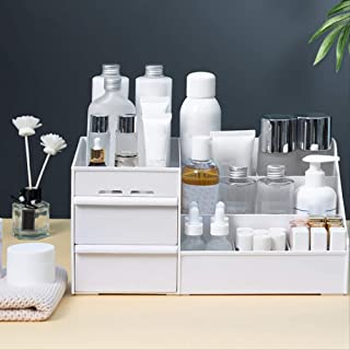 Beauty Multi-function Makeup Jewelry Organiser Cosmetic Accessories Make Up Storage Boxes White