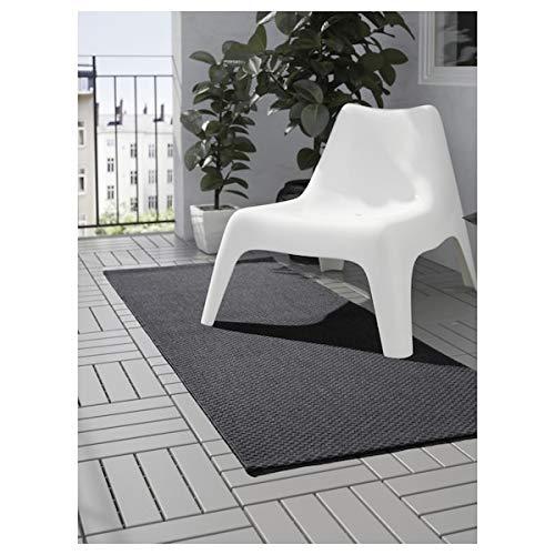 Ikea Morum - Alfombra de tejido plano para interiores y exteriores, color gris oscuro, 80 x 200 cm