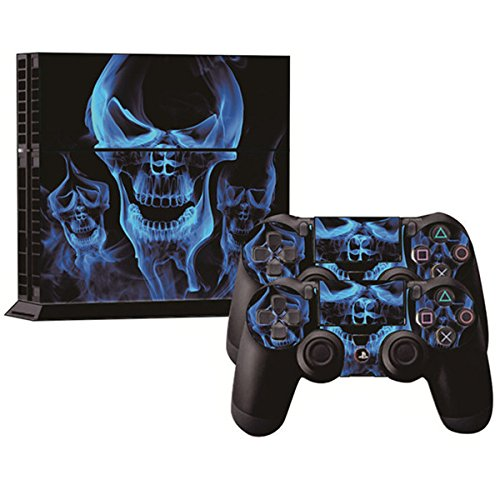 GOZAR Sticker Skin voor PS4 Play Station 4 Console + 2Controller Cover