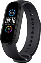 ADYM M5 Activity Tracker and Fitness Band with Heart Rate Monitor Compatible with All Android and iOS Smartphone (Black, M...