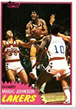 1981/82 Topps Basketball Card # 21 Magic Johnson 2nd YEAR CARD Los Angeles Lakers In A Protective Display Case!