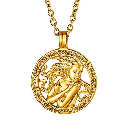 Collar de Virgo bañado en oro