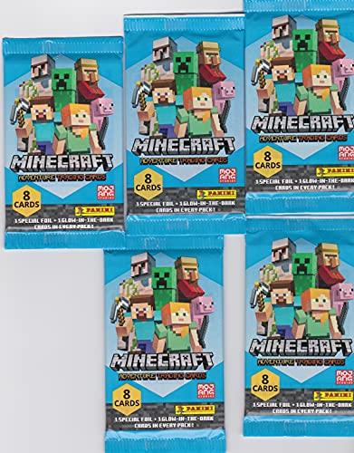 Minecraft Karten Adventure - Minecraft Trading Cards (2021) - 5 Booster + Fußball Sonder Karte